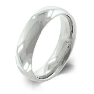 Quality 5mm Wide Stainless Steel High polish Ring, Size 13 Jewelry