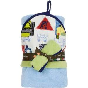 Truck Stop Hooded Towel & Washcloth Set Baby