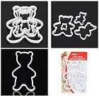 Cute Cartoon Bear Style Biscuit Cookie Cutter Mold Mousse Ring   White