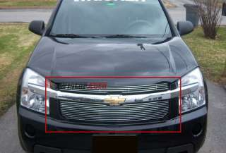Billet Grille Insert 05   09 Chevy Equinox Front Upper Polished