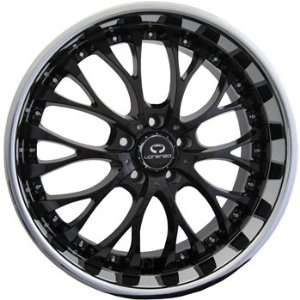 Lorenzo WL027 19x8 Chrome Black Wheel / Rim 5x120 with a 40mm Offset