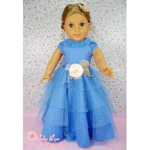 ** RUBY ROSE ** Fancy Blue Lace Party Dress & Satin Rose