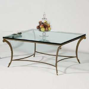 05 David Square Contemporary Cocktail Table Metal Finish Mocha Baby