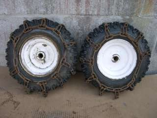 SNAPPER SNOW BLOWER WHEELS 7 24 TIRE & RIM WITH CHAINS