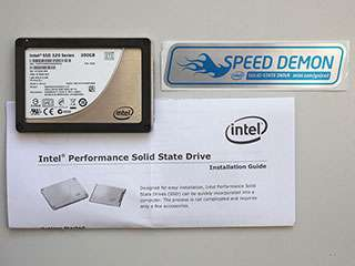 OEM Intel Solid State Drive Speed Demon Decal Blue & Silver NEW