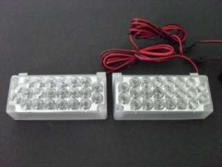 22 LED white car Flash Strobe Emergency Light 12V