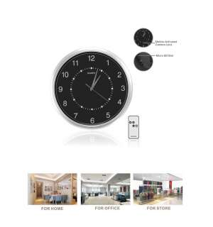 HD 720P Motion Detection Wall Clock Hidden Camera DVR ,Remote Control